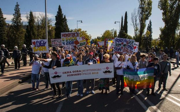 Montenegro höll sin första prideparad