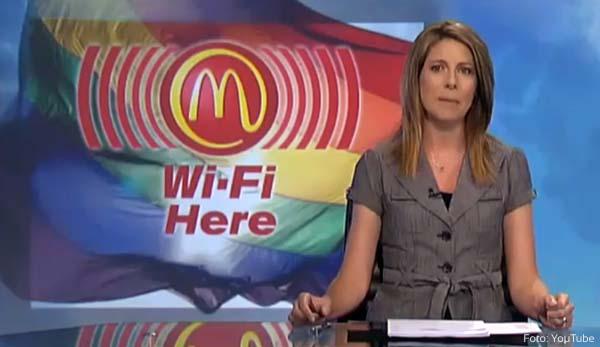 Hamburgarjätten erbjöd gratis WIFI men spärrade gaysidor