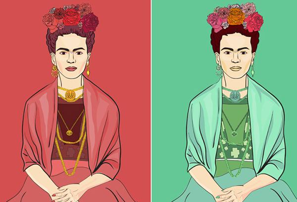 Infografik: Frida Kahlo och hennes ikoniska stil