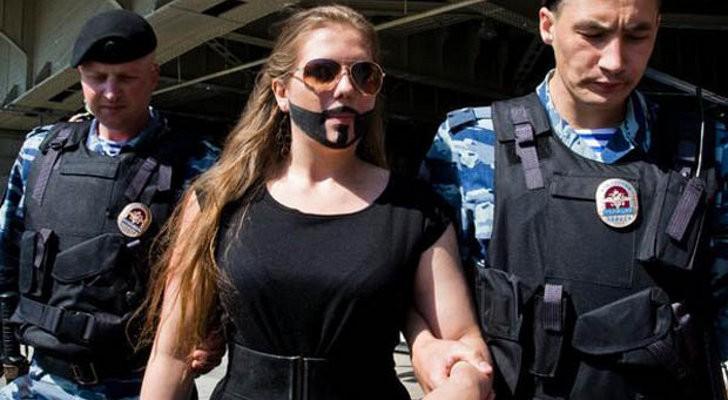 Ritade skägg – greps av rysk polis