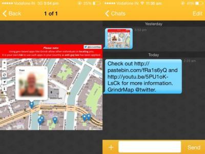 Bugg i Grindr avslöjar användarnas exakta position på kartan