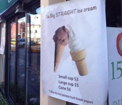 "Kunder rasar över ""homofobisk glass"""
