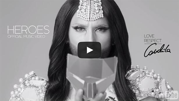 Se Conchita Wurst nya kontroversiella musikvideo