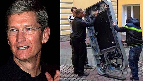 iPhone-statyer rivs i Ryssland sedan Apples VD kom ut som gay